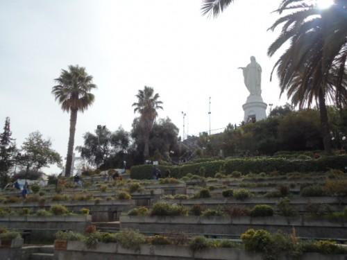 Estátua de la Virgen de Inmaculada Concepción - Cerro San Cristóbal - Santiago - Chile
