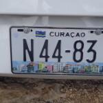Alugar carro em Curaçao - Placas