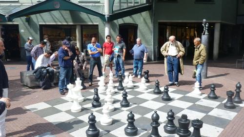 Jogo de Xadrez em Amsterdam