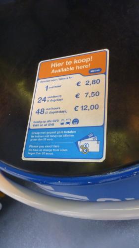Preço Transporte Público Amsterdam